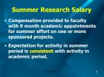 summer research salary