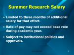 summer research salary11