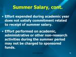summer salary cont