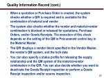 quality information record cont