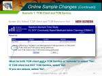 online sample changes continued10