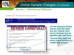online sample changes continued14