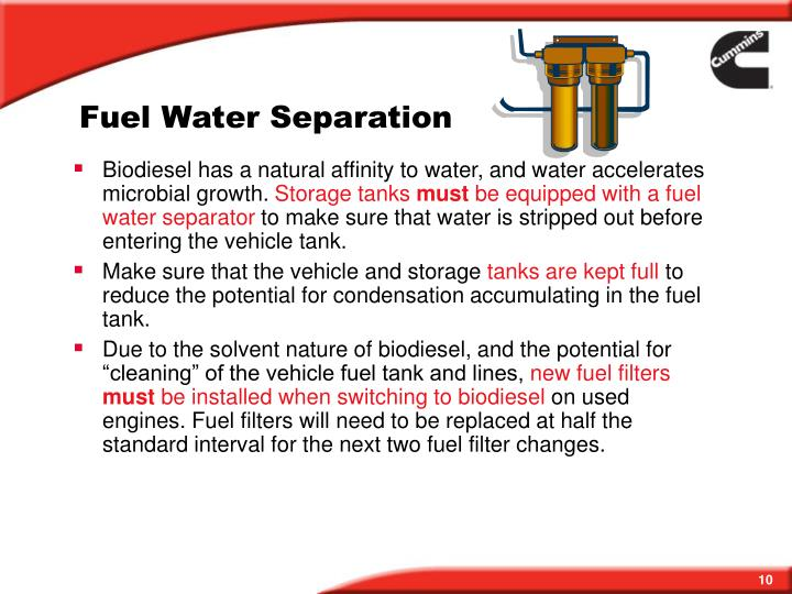 Fuel Water Separation