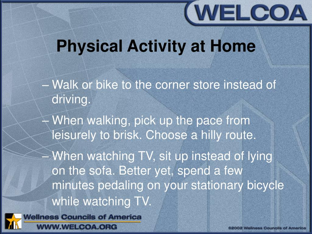 Physical Activity at Home