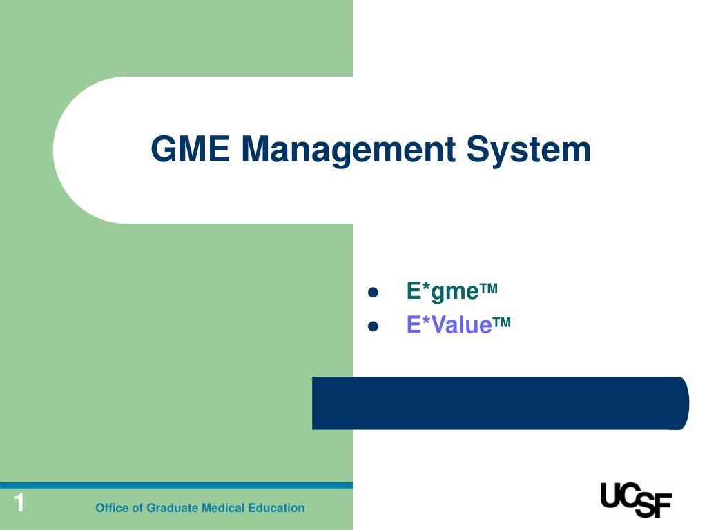 gme management system l.