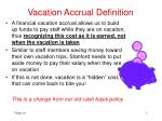 vacation accrual definition