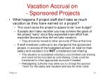 vacation accrual on sponsored projects19