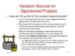 vacation accrual on sponsored projects20