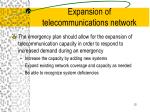 expansion of telecommunications network