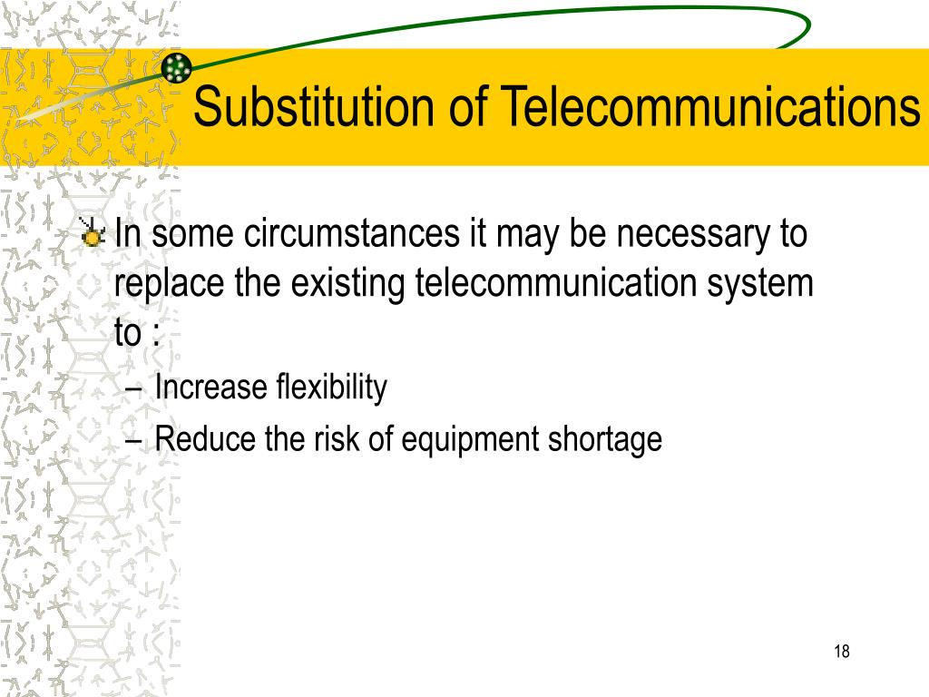 Substitution of Telecommunications