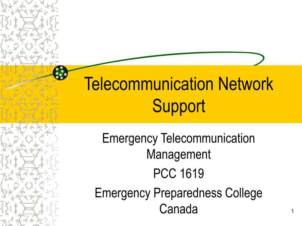 telecommunication network support l.