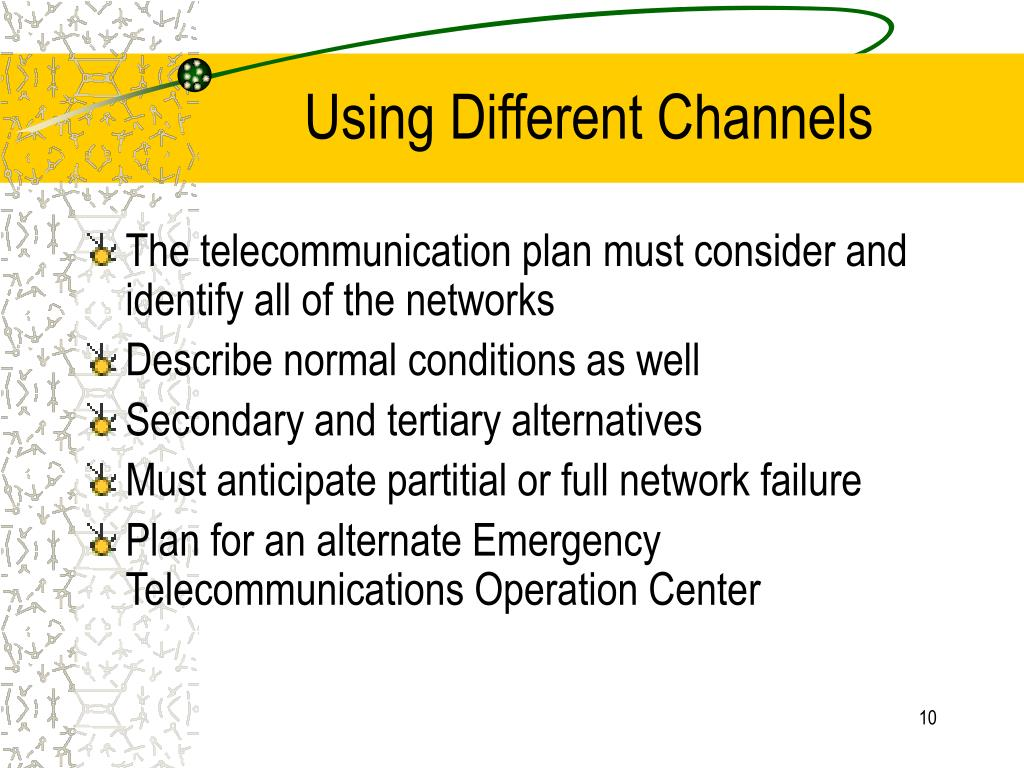 Using Different Channels