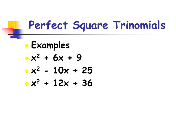 Ppt Solving Quadratic Equations By Completing The Square