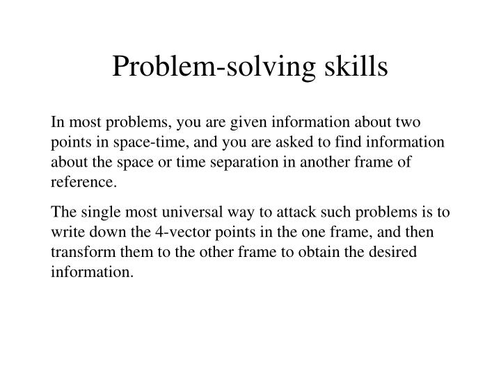 PPT - Problem-solving skills PowerPoint Presentation - ID:493607