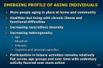 emerging profile of aging individuals