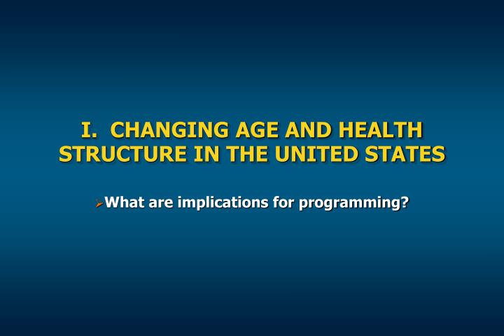 changing age structure implications for This shifting demographic make-up brings with it challenges and opportunities and has implications for the changing demographic structure age population to.
