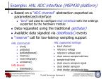 example hal adc interface msp430 platform