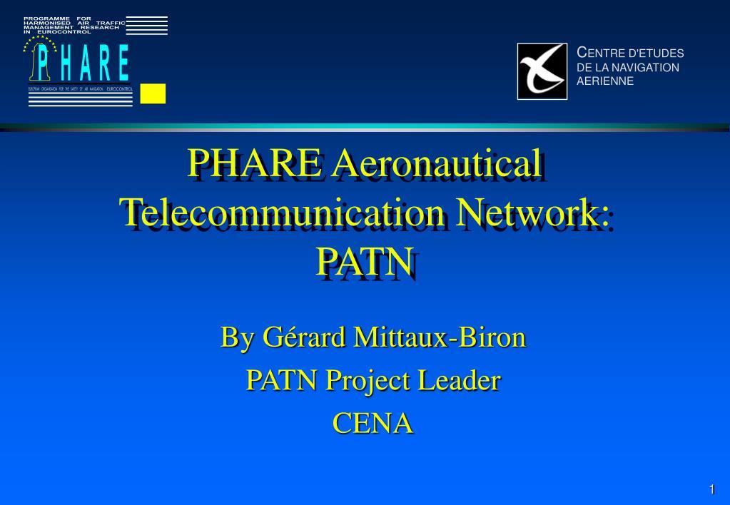 phare aeronautical telecommunication network patn l.
