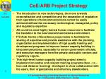 coe arb project strategy