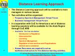 distance learning approach