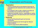 organization and financing