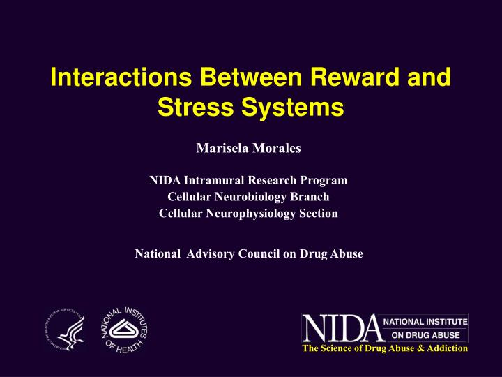 Interactions Between Reward and Stress Systems