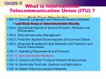 what is international telecommunication union itu