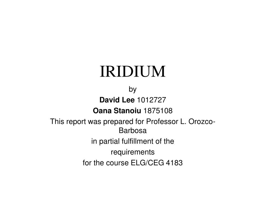 iridium l.