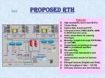 proposed rth