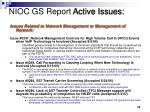 nioc gs report active issues18