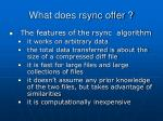 what does rsync offer