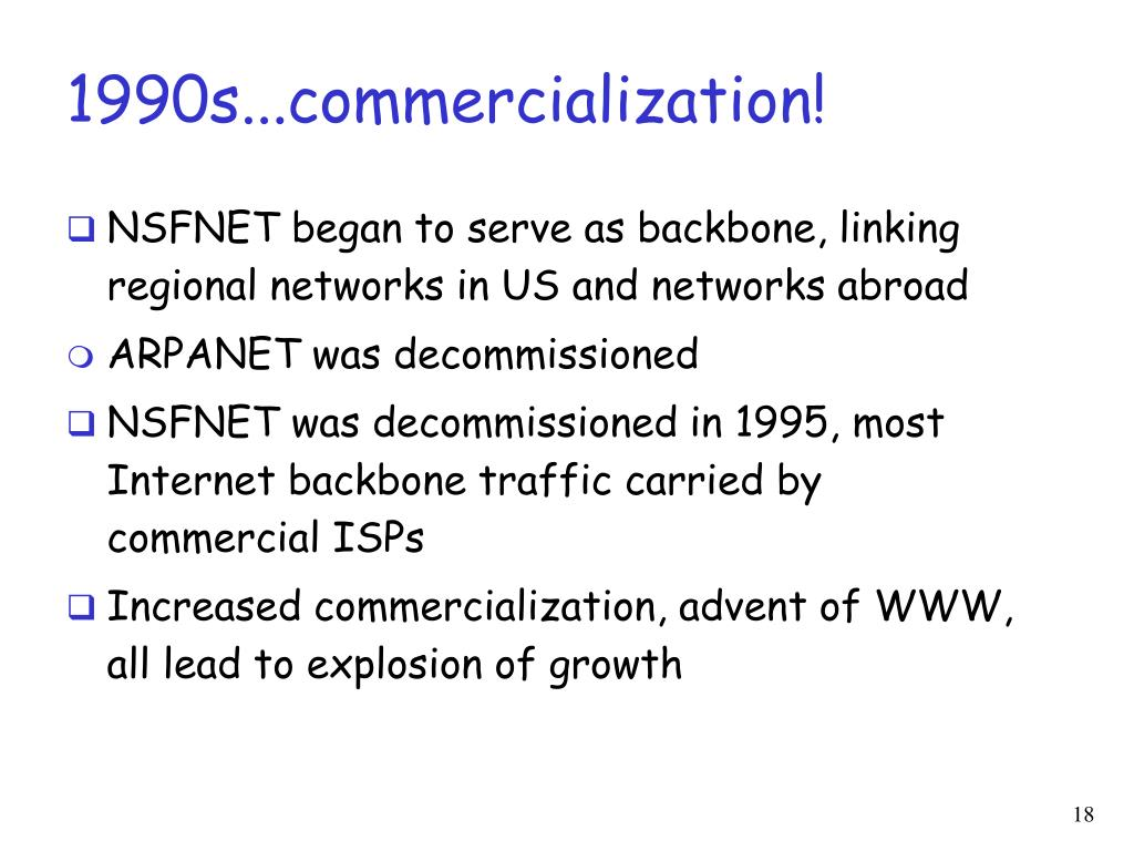 1990s...commercialization!