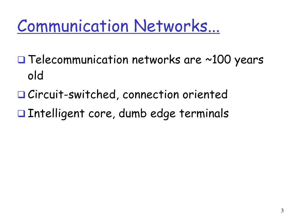 Communication Networks...