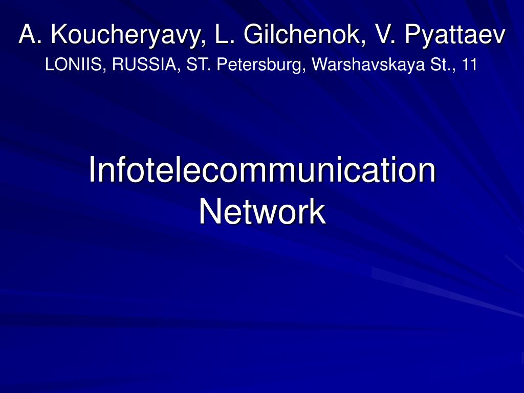 in fotelecommunication network l.