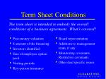 term sheet conditions