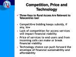 competition price and technology