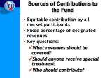 sources of contributions to the fund