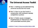 the universal access toolkit