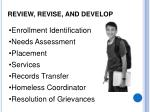 review revise and develop