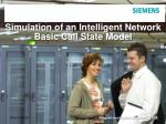 simulation of an intelligent network basic call state model