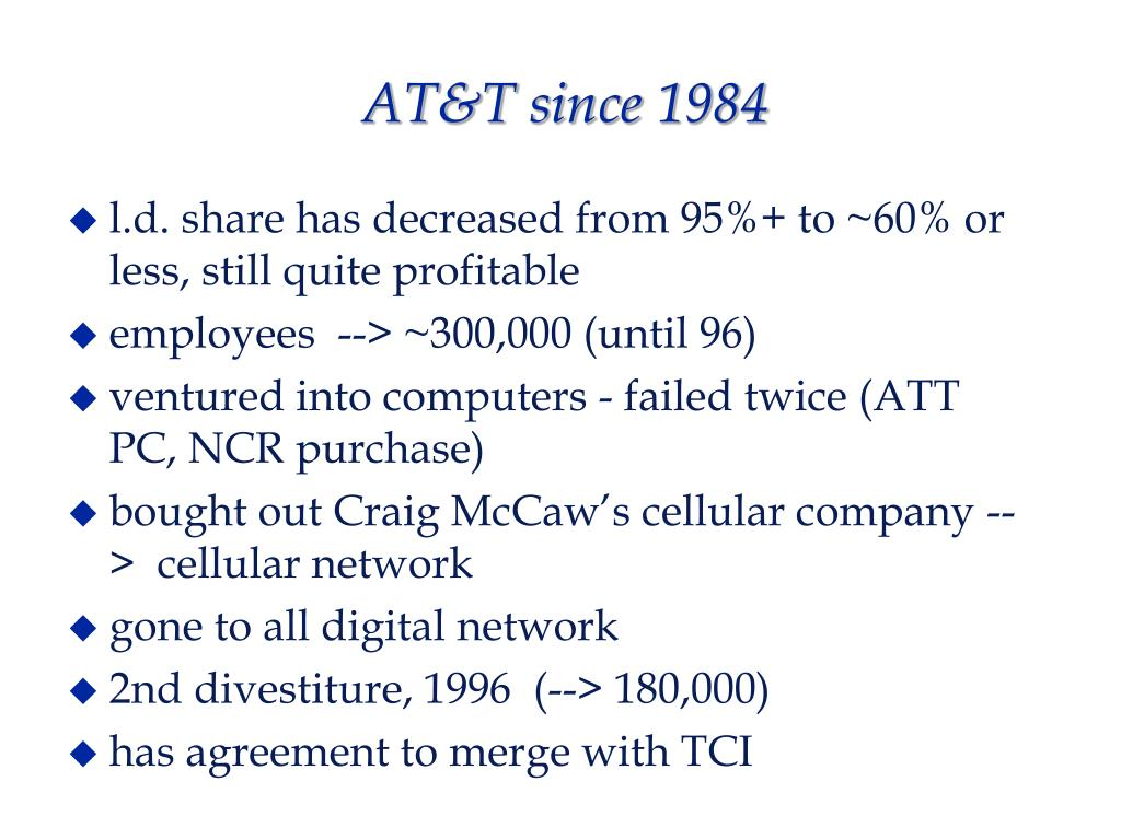 AT&T since 1984