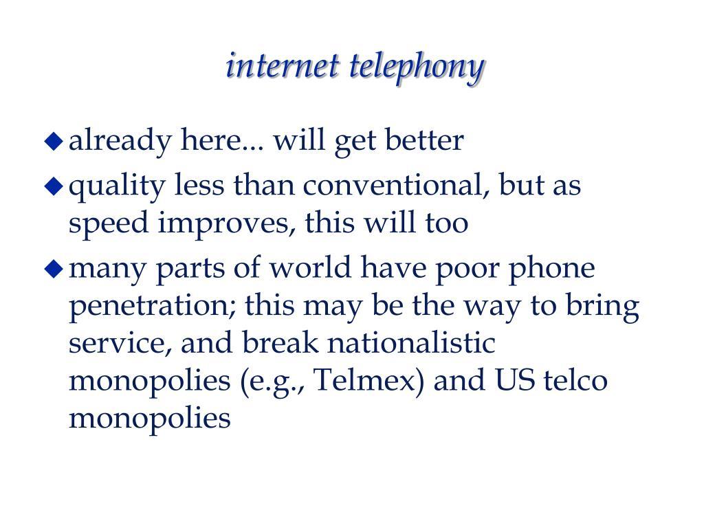 internet telephony
