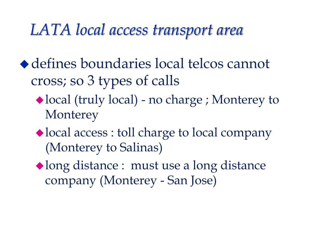 LATA local access transport area