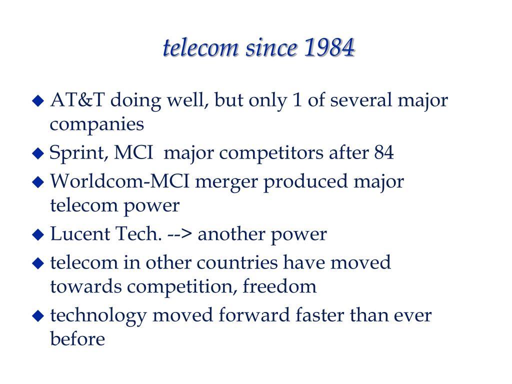 telecom since 1984