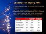 challenges of today s ions