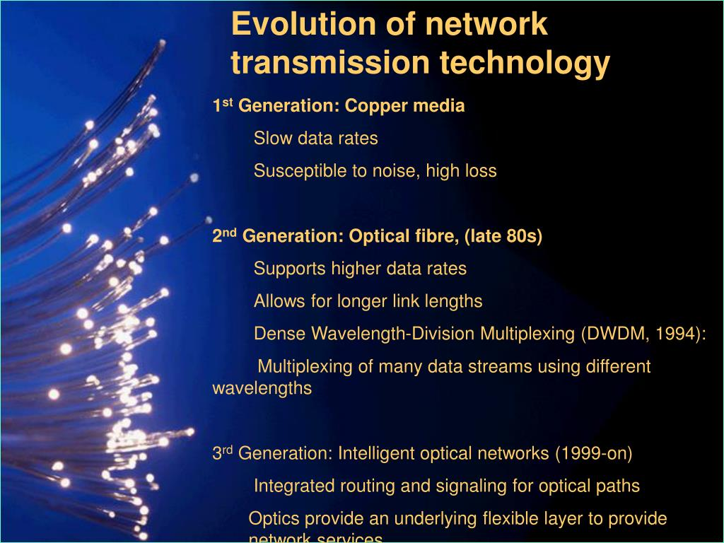 Evolution of network transmission technology