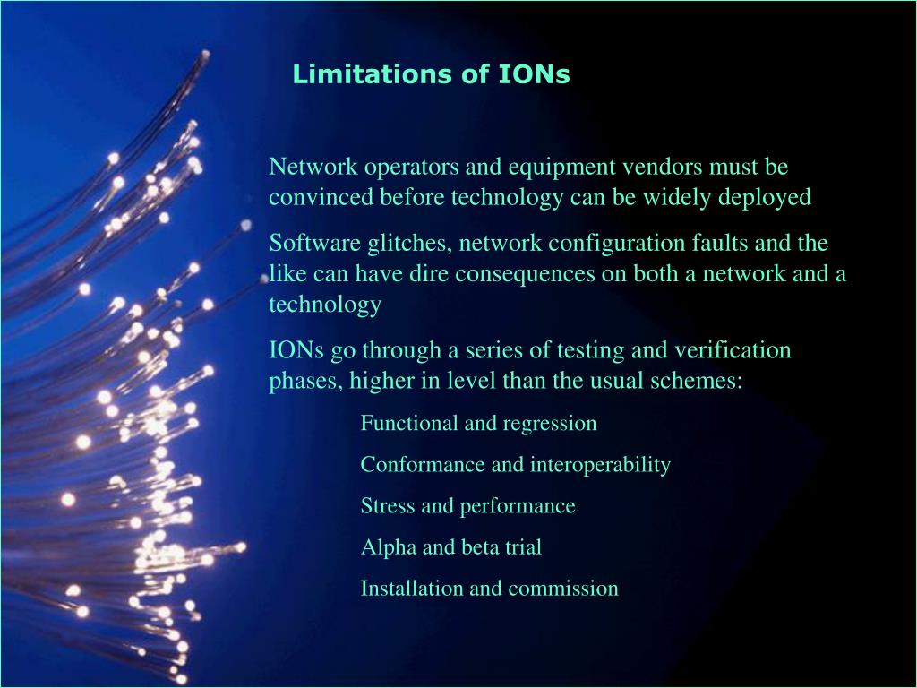 Limitations of IONs