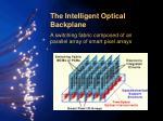 the intelligent optical backplane