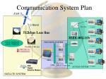 communication system plan