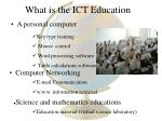 what is the ict education